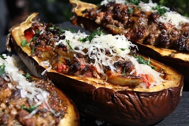 Greek stuffed eggplant the hungry belgian greek stuffed eggplant forumfinder